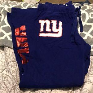 PINK Victoria's Secret Pants - PINK!! VS NFL GIANTS SWEATS (Large)
